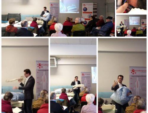 Informative Vorträge rund um Betten und gesundem Schlaf mit dem Referenten Markus Kamps
