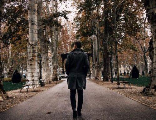 Mache einen Spaziergang im Park Tag