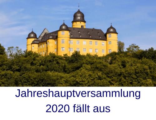Jahreshauptversammlung 2020 fällt aus