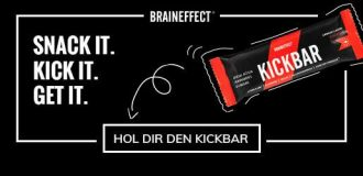 Powerriegel mit Koffein: KICKBAR von Braineffect