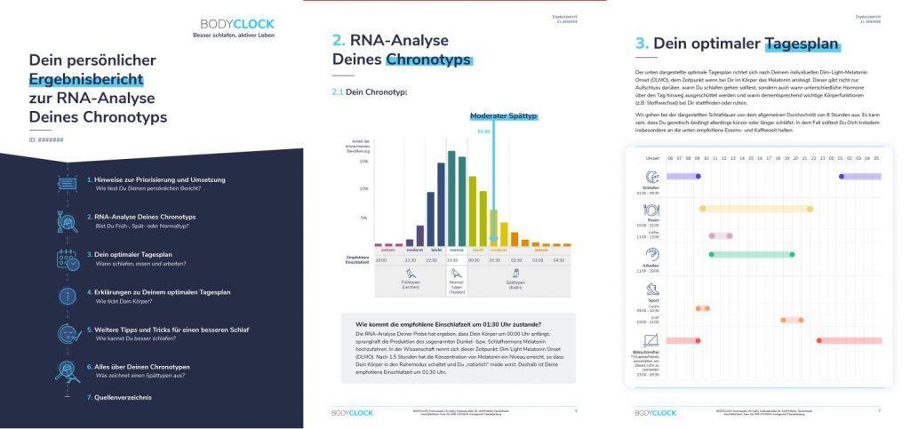 chronotyp, <center>RNA-Test zur Bestimmung Deiner inneren Uhr</center>